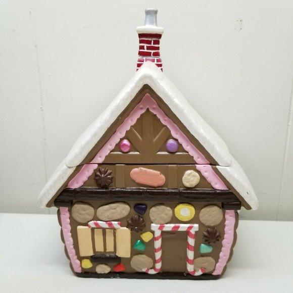 Gingerbread House Cookie Jar Home Decor Christmas
